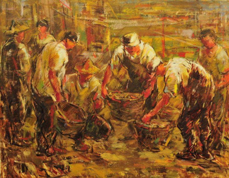 黃玉成-漁民圖