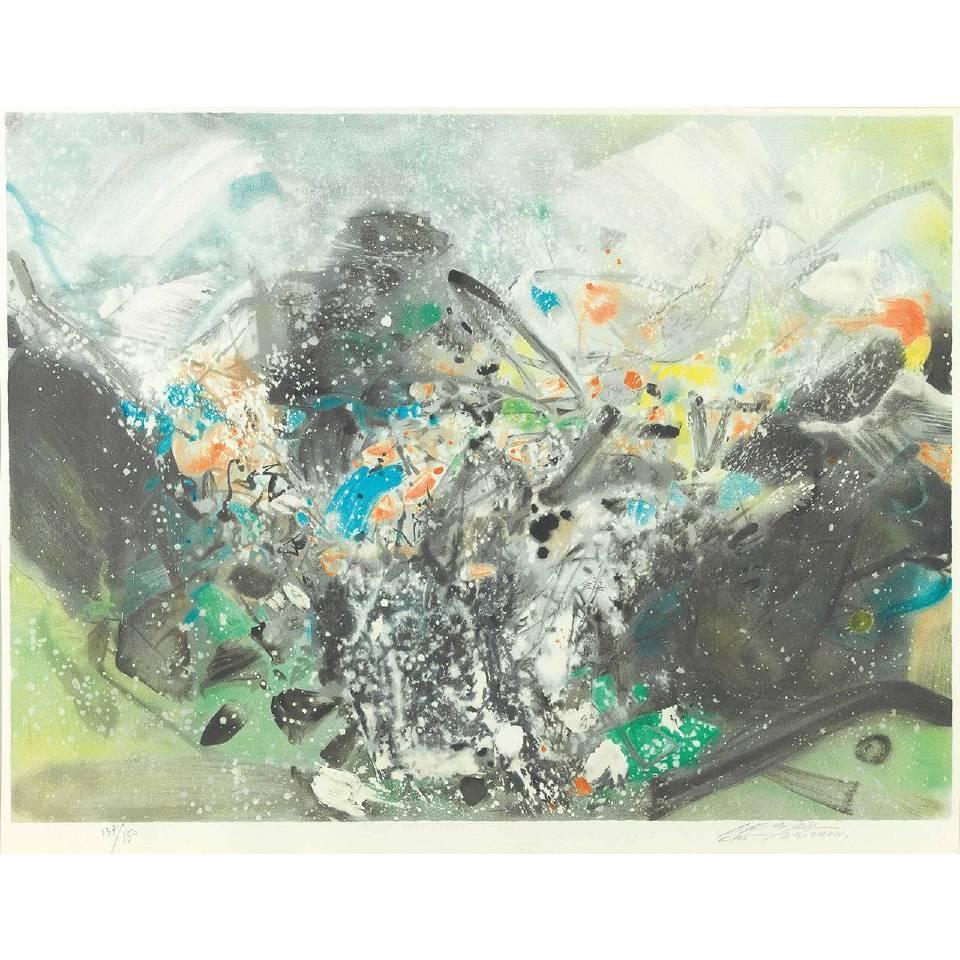 朱德群|雪景|2000-2001|石版畫|60x80cm