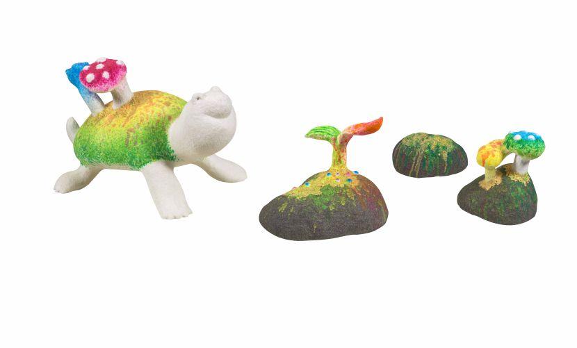 蔡潔莘-彩虹雨村落的烏龜與石頭
