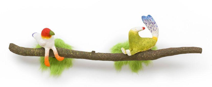蔡潔莘-彩虹雨村落的鳥兒們 II