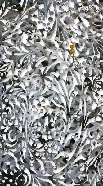 吳耿禎-影像剪紙系列-雪凝如布