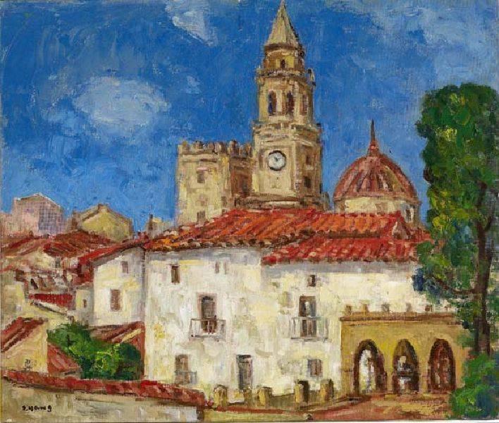 楊三郎-西班牙古城風情