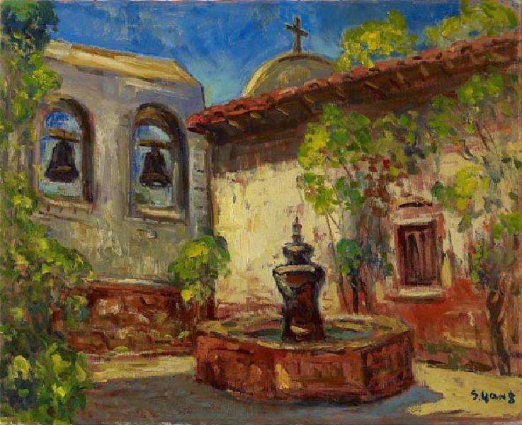 楊三郎-修道院內