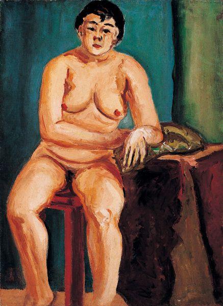 陳澄波-裸女