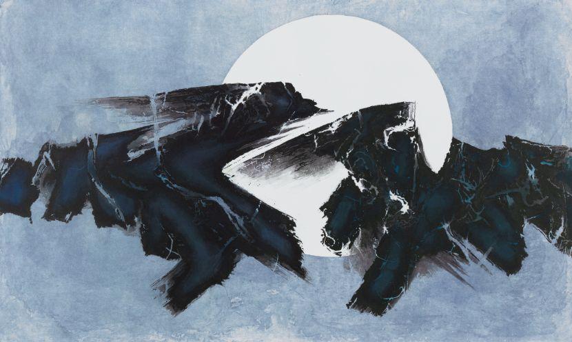 劉國松-日月浮沈-銅板