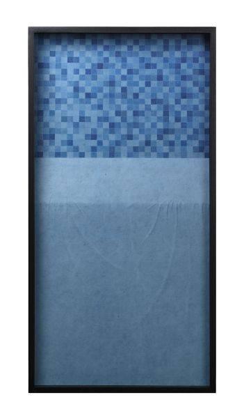 杭春暉-日常—深藍馬賽克和淺藍桌布