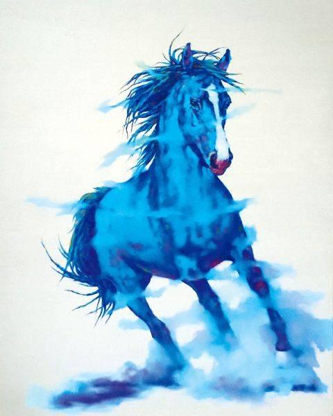 馬東民-藍馬之六