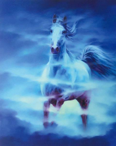 馬東民-藍馬之十五