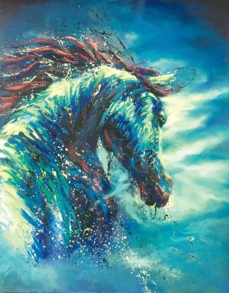 馬東民-藍馬之十一