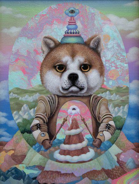 張嘉穎-聖像:穿著鎧甲的柴犬 Icon Shiba Inu in Armor