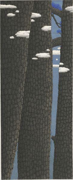 鄧卜君-三松遠月 Moon Behind Three Pine Trees