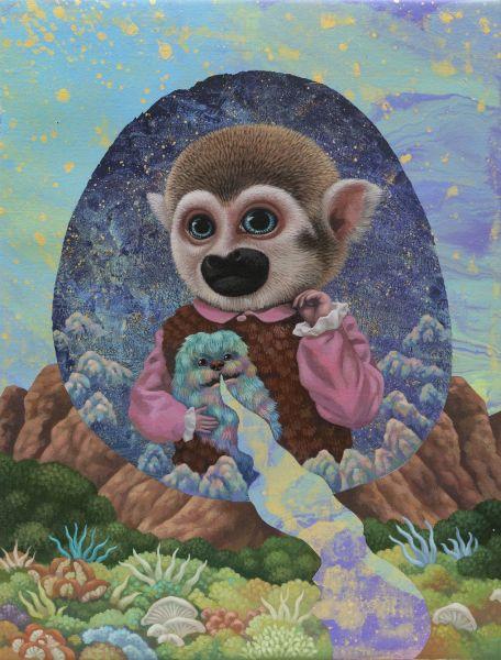 張嘉穎-沉思宇宙的猴子四號 Monkey No. 4 Contemplating on the Universe