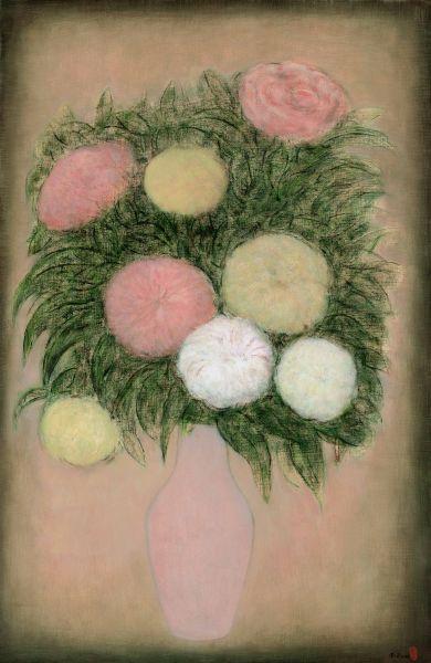 陳承衛-瓶花-5 Flowers in a Vase-5