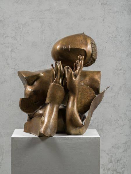 李光裕-胸像 Woman's Bust 56x46x70cm,Bronze,2016