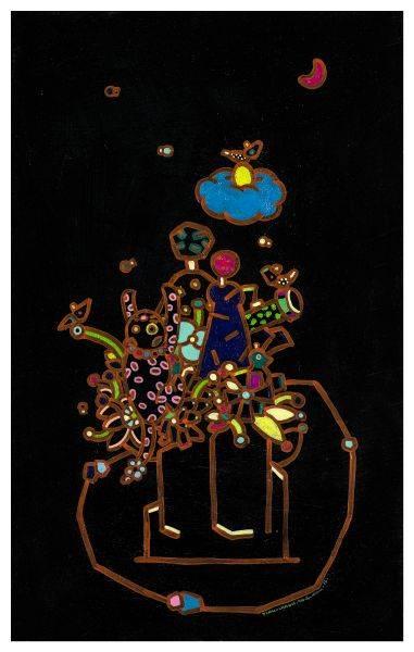 呂英菖-許願池 - 花叢裡的玩伴
