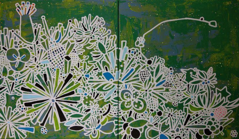 呂英菖-花園裡的奇異樹