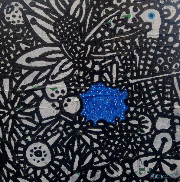 呂英菖-藍色的池面Blue Pond