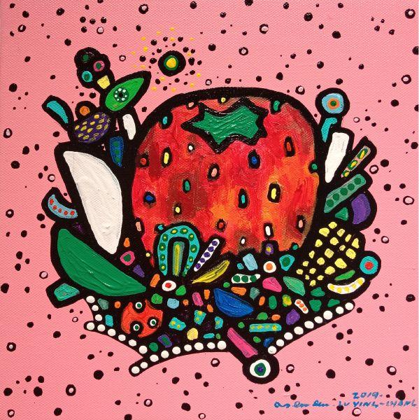 呂英菖-粉紅夜空裡的大草莓