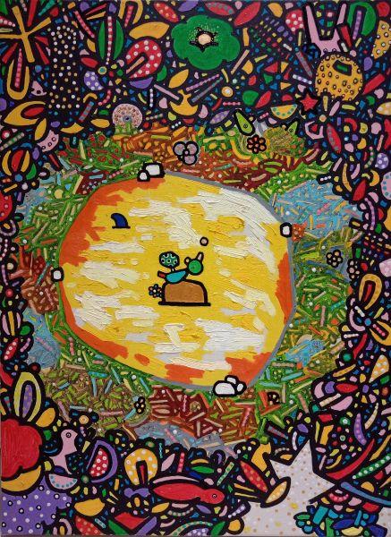呂英菖-星空下的一個小島