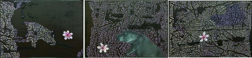 傅作新-河馬與花