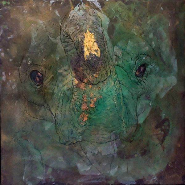 汪柏成-金蟬碧象 no. 02Aquamarine elephant No.2