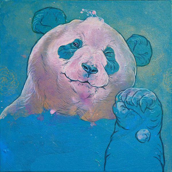 汪柏成-招福No.1 Panda is waving to you No.1
