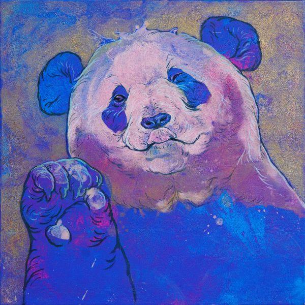 汪柏成-招福No.2 Panda is waving to you No.2