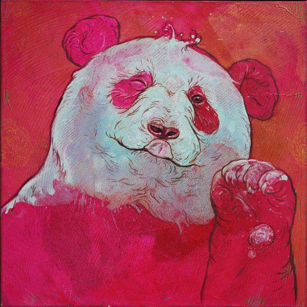 汪柏成-招福No.3 Panda is waving to you No.3