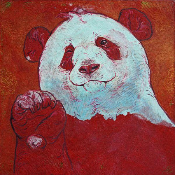 汪柏成-招福No.4 Panda is waving to you No.4