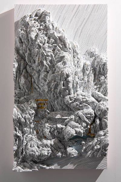 林俊彬-超越真實的微觀山水-雪山樓閣圖