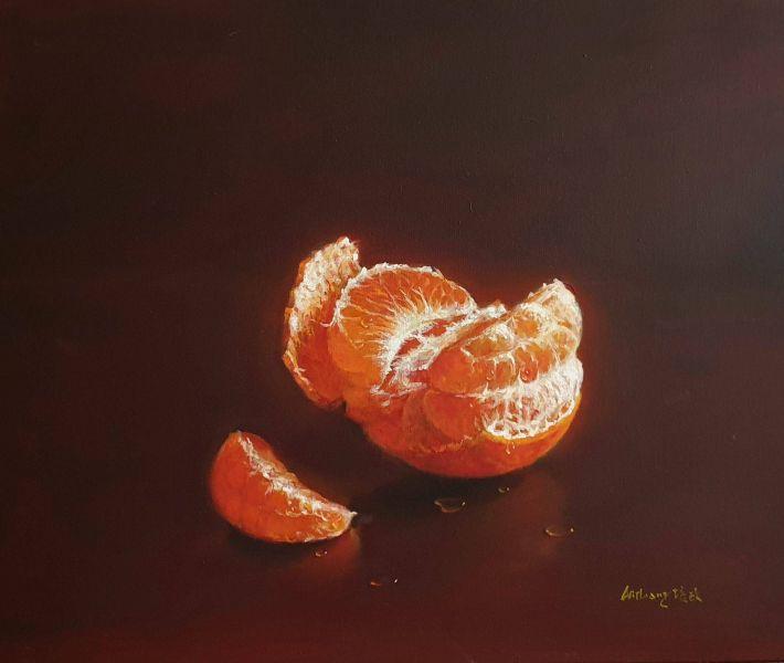 梁培政-靜物橘子-1