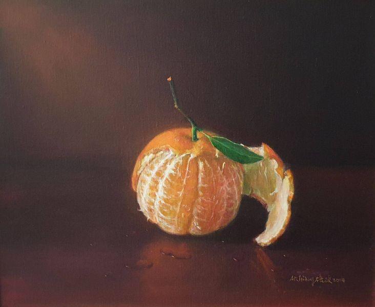 梁培政-靜物橘子-2