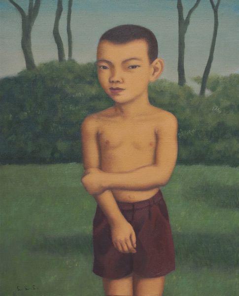 林麗玲-裸上身的小男孩