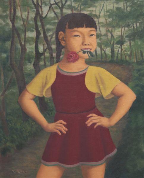 林麗玲-雙手叉腰的小女孩