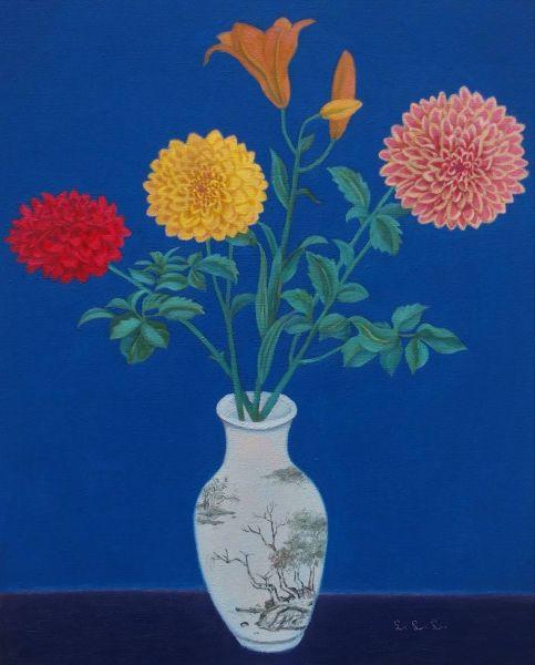林麗玲-大理花與百合