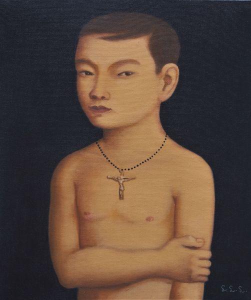 林麗玲-戴十字架的小男孩