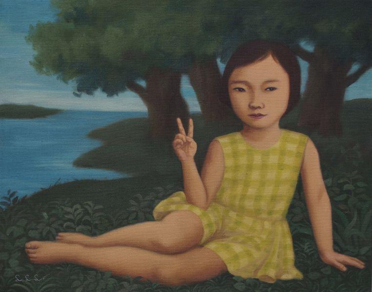 林麗玲-坐在河邊的女孩