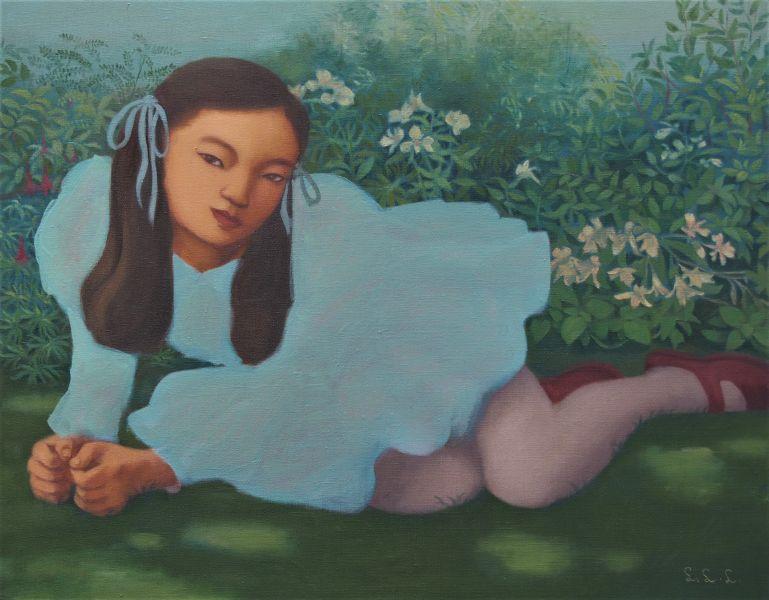 林麗玲-草地上的女孩