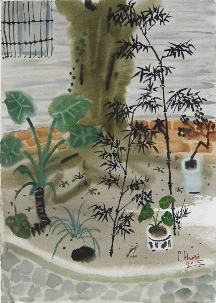 董小蕙-樹下-花園