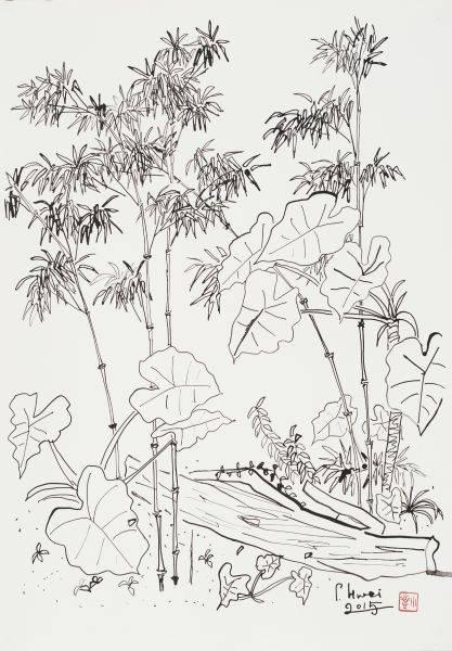 董小蕙-老院子素描I-修竹