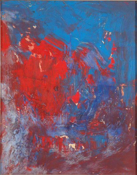 李青萍-抽象紅藍印象