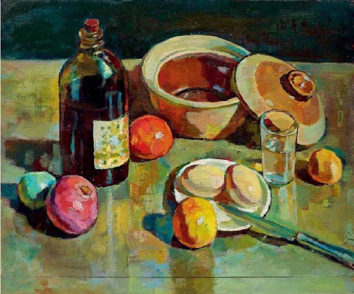 閔希文-砂鍋油瓶與玻璃杯