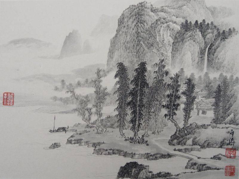 洪平濤-山水小畫1