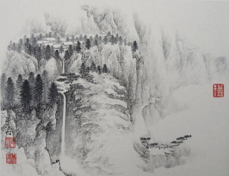 洪平濤-山水小畫3