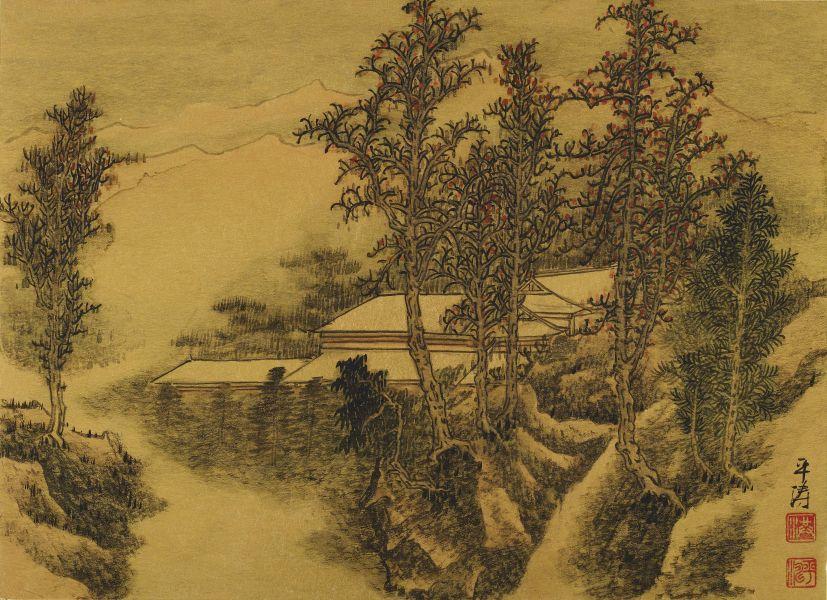 洪平濤-紅葉古寺