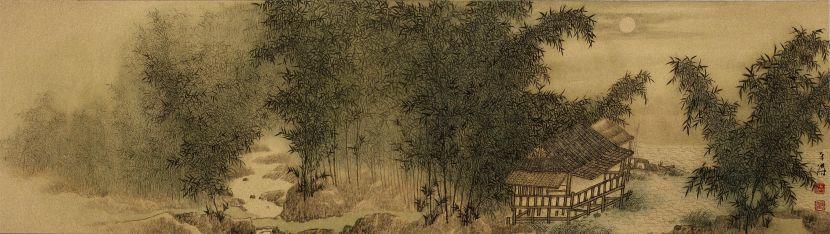 洪平濤-月下竹林