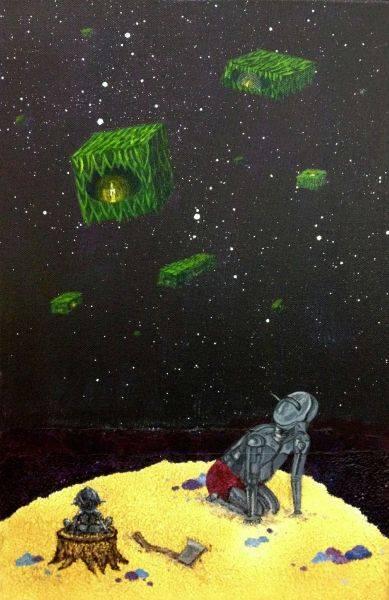蔡名捷-佈滿綠浮盒的夜空