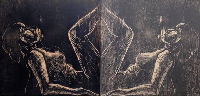 趙曼妮-self portrait,趙曼妮,凸版,110x80cm,2015