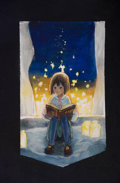 王世甫-讀書少女