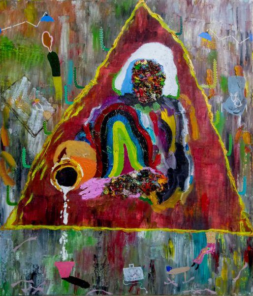 張博洋-這幅原本是維梅爾經典畫作《倒牛奶的女僕》被我惡改變成《少女與山洞和她幻想的男友們,嗯嗯》